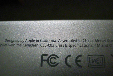 """Designed by Apple in California. Assembled in China."""